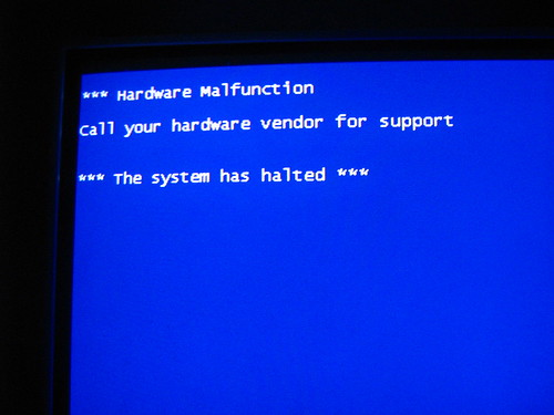 The worst blue-screen-of-death ever.