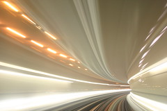 Entering Hyperspace (ole) Tags: light motion france speed underground subway europe metro background tunnel explore flush straight toulouse longshot threeofakind 3ofakind explored goldenphotographer diamondclassphotographer megashot bratanesque gardela