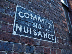 Commit No Nuisance (benrobertsabq) Tags: sign evening downtown shadows walk australia melbourne olympus victoria signage cbd nuisance e500 kitlenses
