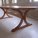 8' Cherry Dining Table with Walnut Inlay