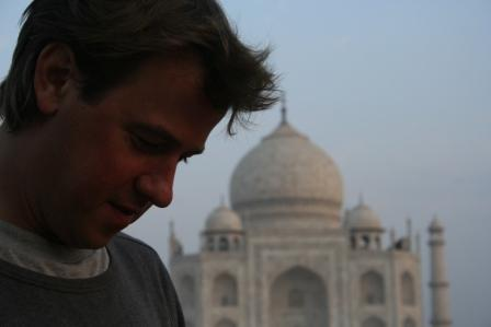 Tom at the Taj Mahal