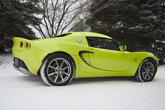 Snowy Lotus Elise 2 (The Pug Father) Tags: winter snow green sports car lotus elise ky convertible louisville roadster lotuselise 111r