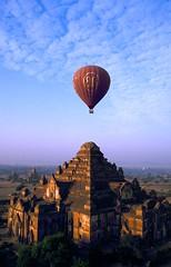 Velvia #2 016 (Kelly Cheng) Tags: topf25 temple balloon aerial velvia myanmar paya bagan dhammayangyi pickbykc