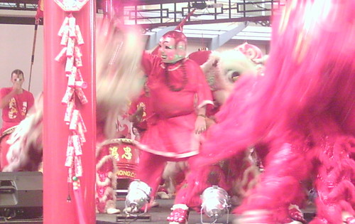 Lion Dancing, Chinatown Mall, Duncan St - Chinese New Year, Fortitude Valley, Brisbane, Queensland, Australia 070217-7