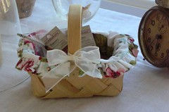 Basket with liner my mom made
