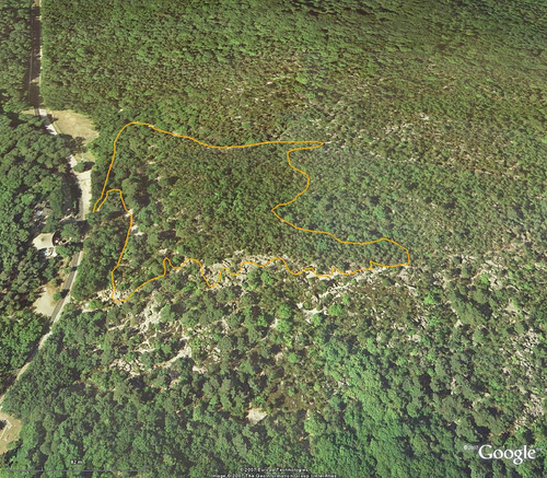 20070215 - balade des Rochers - Google Earth avec trajet