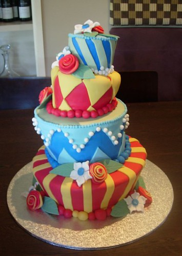 Topsy Turvy Wedding Cake. originally uploaded by. cupcaketastic.