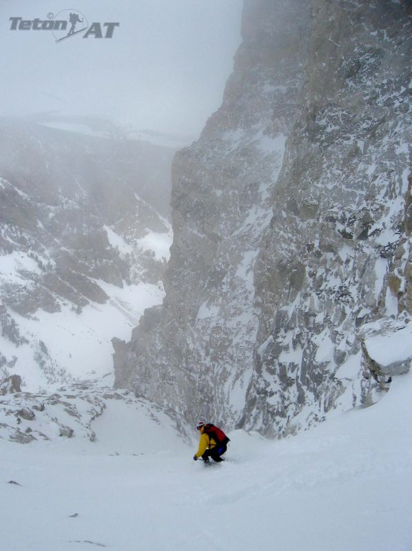 Turns off the top of Hourglass Couloir
