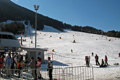 The favourite snowboarding slope