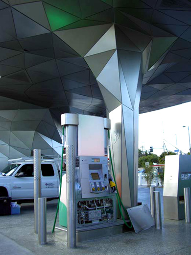 Futuristic BP Gas Station Lands in LA – TechEBlog
