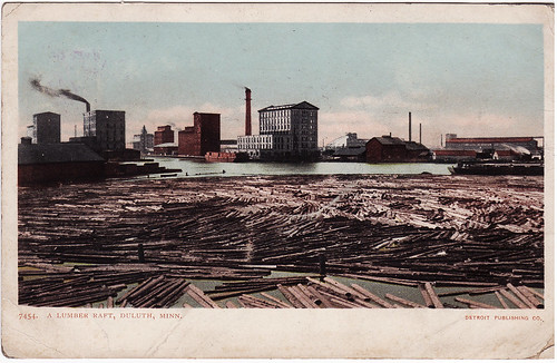 Duluth Lumber Raft - 1906