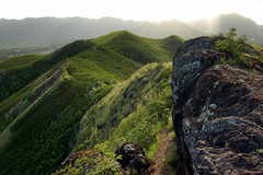 Walking the Ridge (Adrasteia9) Tags: mountains landscape hawaii oahu path ridge kailua