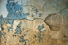 Surface of a Strange Planet (deatonstreet) Tags: blue abstract texture wall peeling paint plaster mansion cracked ouerbacker