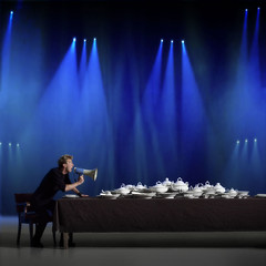 T. for dinner (Pepeyn.nl) Tags: friends dinner table spotlight megaphone langedijk pepeyn