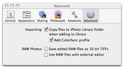 iPhoto '06 - Copy files to iPhoto Library folder
