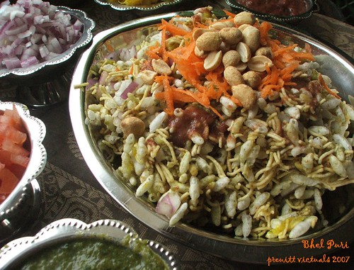 easy recipe chaat indian snack bhel puri
