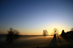 Sunrise and shadows #2 (KLV Lancaster.net) Tags: trees mist sunrise canon oak shadows haywardsheath shacky superaplus aplusphoto