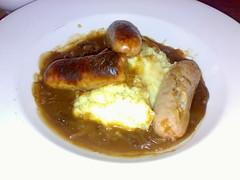 Sausage and Mash at The Merlin Bar, Morningside, Edinburgh