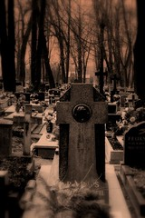 Whisper ..... (Ewciak & Leto) Tags: cemetery sepia dark sadness scary whisper sad darkness gothic dream graves fantasy horror nightmare legend canoneos350d mystic monochromia abigfave v101200 v76100 v501600 v601700 v701800 v201300 castlesdreams v301400 v801900 v9011000