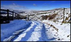 Track (andrewlee1967) Tags: uk england snow landscape gate track saddleworthmoor andrewlee canon400d andrewlee1967 anawesomeshot andylee1967 focusman5