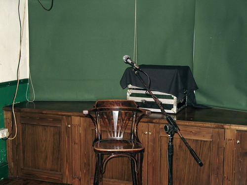 An empty chair, an open mike and a captive audience – my idea of heaven.