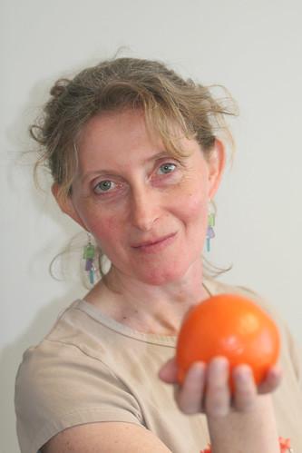 Sarah and the orange