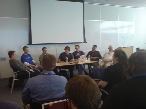 Larger photo of the Lullabot podcast crew