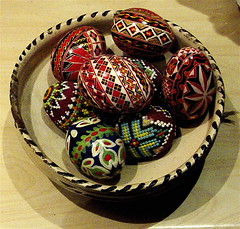 Easter Eggs (Romania) (londonconstant) Tags: traditions christian romania handpainted ukrainian orthodox carpathians romanian eastereggs moldavia bucovina radauti paintedeggs ruthenian virtualmuseum easterncarpathians faves15faves