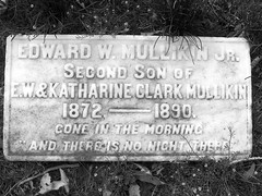 Gone in the Morning (kafka doodle) Tags: blackandwhite cemeteries cemetery death cincinnati sorrow grief epitaph cimetière lastwords springgrove photosmart945