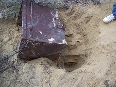 buried alive (Chris_NWUE) Tags: mine tram mining rusted rusting cart relics mucker orescar