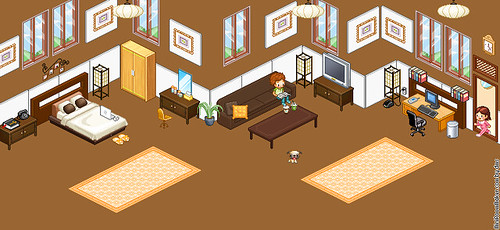 My Creation Brown Room by miss_delite4u by miniroom.