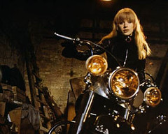 0000299638-001 (lady-b) Tags: portraits movie sitting fulllength motorbike transportation actress archives motorcycle prominentpersons celebrities britishcharm britishpopmusic filmshooting mariannefaithfull fullface starposture interiorview jobofastar photowidth britishmovies girlonamotorcycle moviebycardiffjack