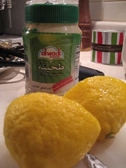 Tahini and lemons