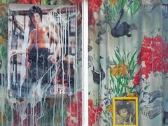 Bruce Lee and Jimi Hendrix (johanna) Tags: graphics curtains brucelee macklinstreet jmihendrix