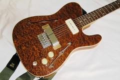 My Lovely Slide Tele (voigtlander) Tags: wood music woodwork guitar telecaster thinline