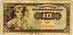 From 1965 (Jelena1) Tags: money serbia balkans yugoslavia 1965 jugoslavija 10dinara jugoslovenskidinaryugoslaviandinar