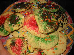 Sugar cookies all glittery