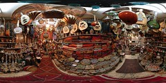 King David Street Shop - Jerusalem, Old City - 360 (Sam Rohn - 360 Photography) Tags: travel red panorama music shop geotagged photography israel photo interesting nikon nikond70 drum guitar box availablelight interior palestine jerusalem tan middleeast chess banjo location panoramic textile fabric photograph instrument tray rug boxes nikkor rugs brass stitched oud holyland filmproduction 360x180 oldcity dumbek trays qtvr 360 360x180 narghile panography alquds musicalinstument filmlocation locationscouting virtualtour locationscout equirectangular 105mmf28gfisheye filmlocations rohn perfectpanoramas perfectpanorama jerwelry nylocations samrohn realvizstitcher locationscouts geo:lat=31776684 geo:lon=35229871 hoookah virtualjerusalem filmscout virtiualtour