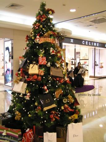 敦南SOGO裡的小聖誕樹
