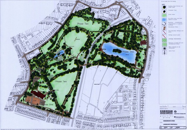Map of Handsworth Park
