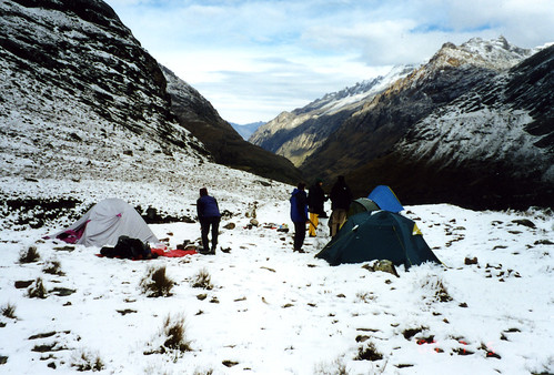 snow, camped just below Punta Union