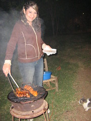 Asando el pollo