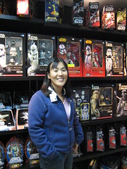 charlene with all the star wars paraphernalia
