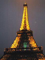 Eiffel Tower in Winter - CloseUp