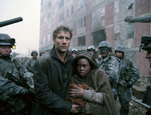One of the many truly powerful moment in 'Children of Men'.