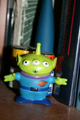 Squeeze Toy Alien guarding chemicals