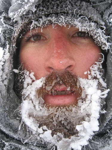 Frozen beard in -23 degrees temperature near Gole, eastern Turkey