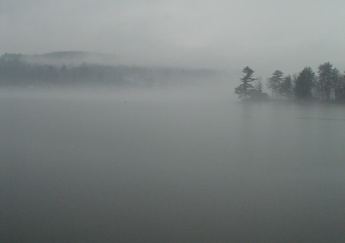 Fog on Newfound Lake image