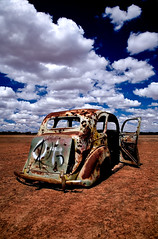 Dumped (tapd_auto_photo) Tags: grass car clouds landscape rusty australia nsw wreck polarizer mungo cr2 canon24105f4isl abigfave specobject