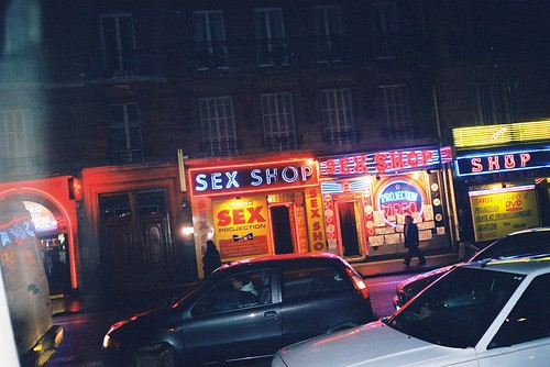 Sex shop at Pigale. Paris